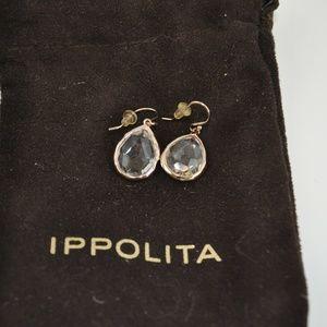 NWOT Ippolita Rose Gold / Quartz Teardrop Earrings